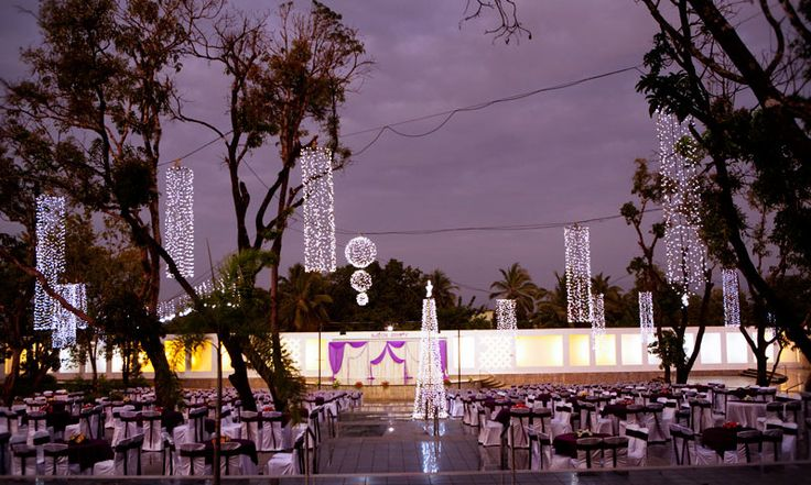 Night time at the outdoor convention hall at UVA Meridian Bay Resort & Spa!