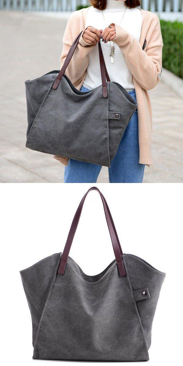 b3315f946315 Bagail Casual Durable Thicker Canvas Handbag Light Casual Large Capacity  Shoulder Bag For Women