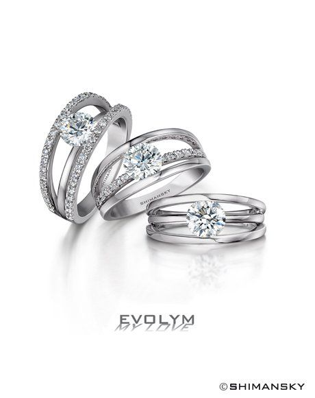 Evolym diamond rings from Shimansky