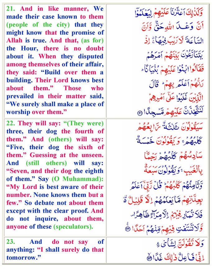 Surah Al-Kahf (English) - Quran O Sunnat-Page 6
