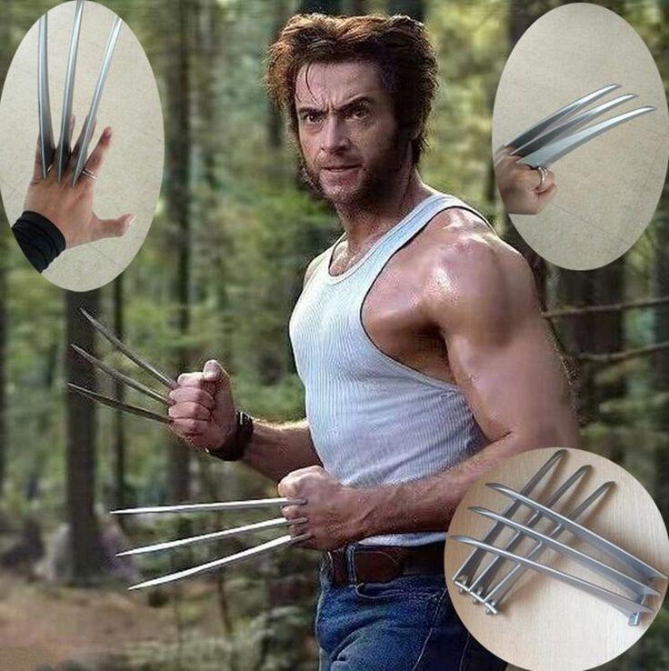 Adlut kinder version 2 Stücke Wolverine Krallen Hartplastik Waffen Cosplay Requisiten