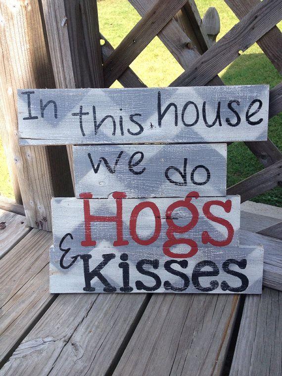 Arkansas Razorback Reclaimed Pallet Wood Sign by PreciousPaisleys, $40.00