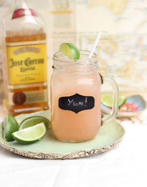 Cherry Limeade with Tequila   3-6oz of Jose Cuervo Gold  12 oz of limeade concentrate 12 oz of cherry 7Up 1 lime maraschino cherries Pour the Cuervo into a pitcher.Add the limeade concentrate and cherry 7Up and stir it all together.
