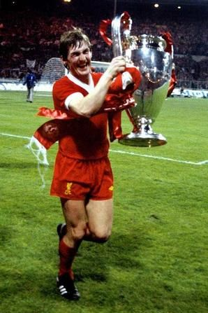 Kenny Dalglish with the European Cup at Wembley. #LFC