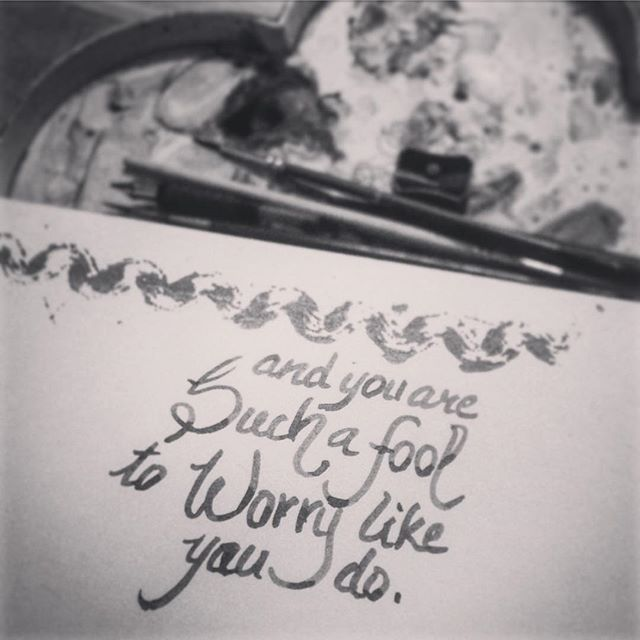 Yes, U2 lyrics always come handy.   Find more such stuff on  https://www.facebook.com/HandmadeByMalvika  #U2 #songlyrics #handmadebymalvika #meraki #black and #white
