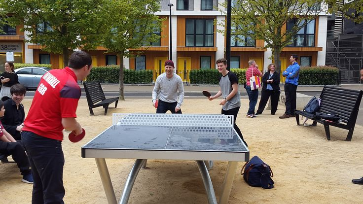 East Village bloggers Sam King and Jazza John take on UK No1 Table Tennis Champ Paul Drinkhall in East Village!