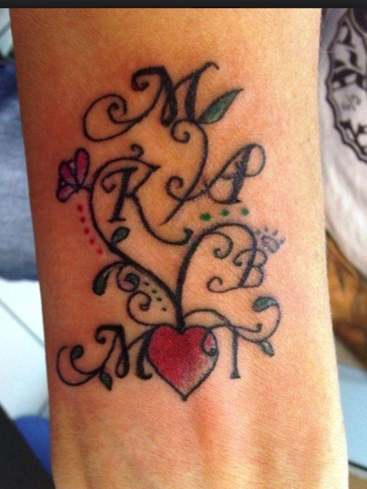 Family Names Tattoo Idea