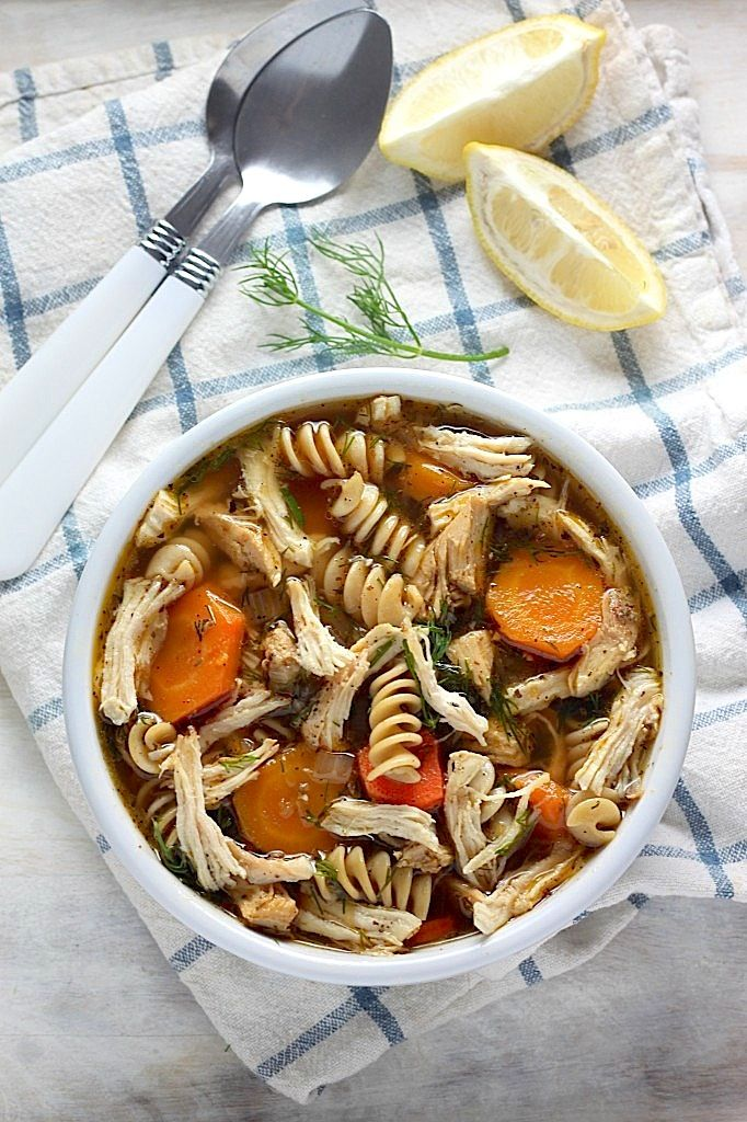 Flu Fighter Chicken Noodle Soup - this is SO delicious! And healthy, too. We make a HUGE pot once a week.
