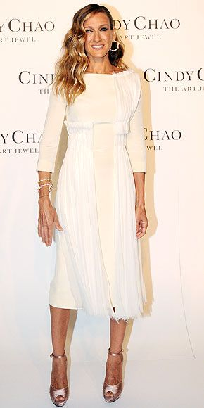 Love this Sarah Jessica Parker look. Classic and elegant