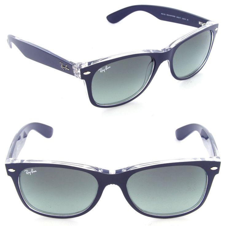 New Rayban Sunglasses RB 6053 Wayfarer Blue Clear 6053/71 Authentic 52mm #rayban #Square | Designer Sunglasses and Eyeglasses | Pinterest | Clearance sale, ...
