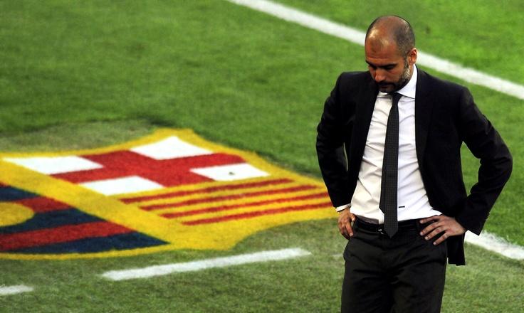 Pep Guardiola. Skinny black ties done right