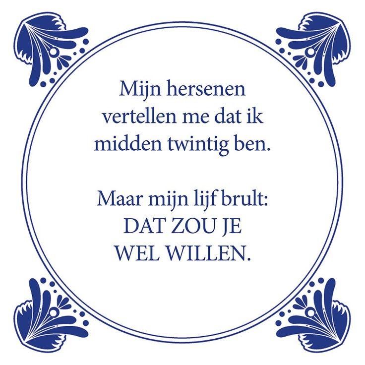 Tegeltjeswijsheid.nl - een uniek presentje - Mijn hersenen vertellen mij