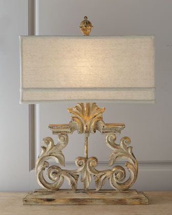 Golden Harp Table Lamp at Horchow. Sale $269 and free shipping Horchow