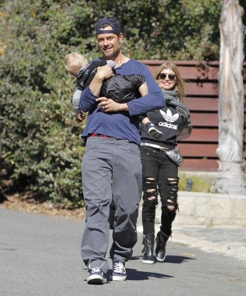 Fergie and Josh Duhamel step out with their son Axl on January 23, 2015