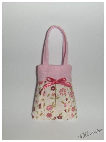 Pink floral Barbie doll bag