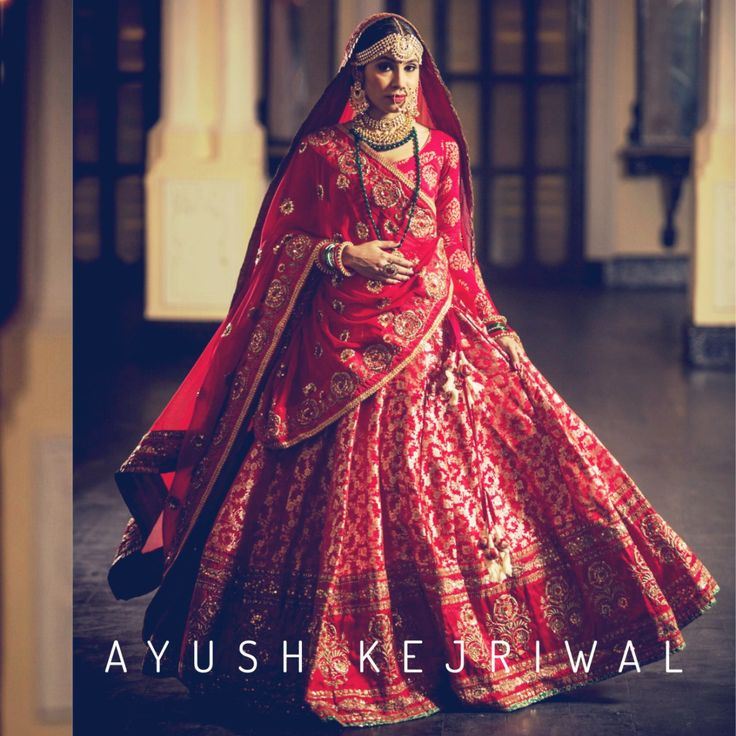 One of the most stunning red banarasi bridal lehengas of the year is by Ayush Kejriwal #Frugal2Fab