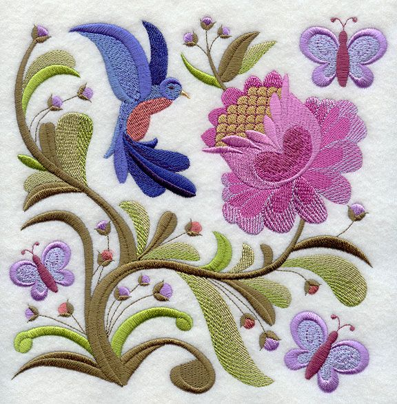Jacobean Embroidery | Machine Embroidery Designs at Embroidery Library! - Jacobean ...