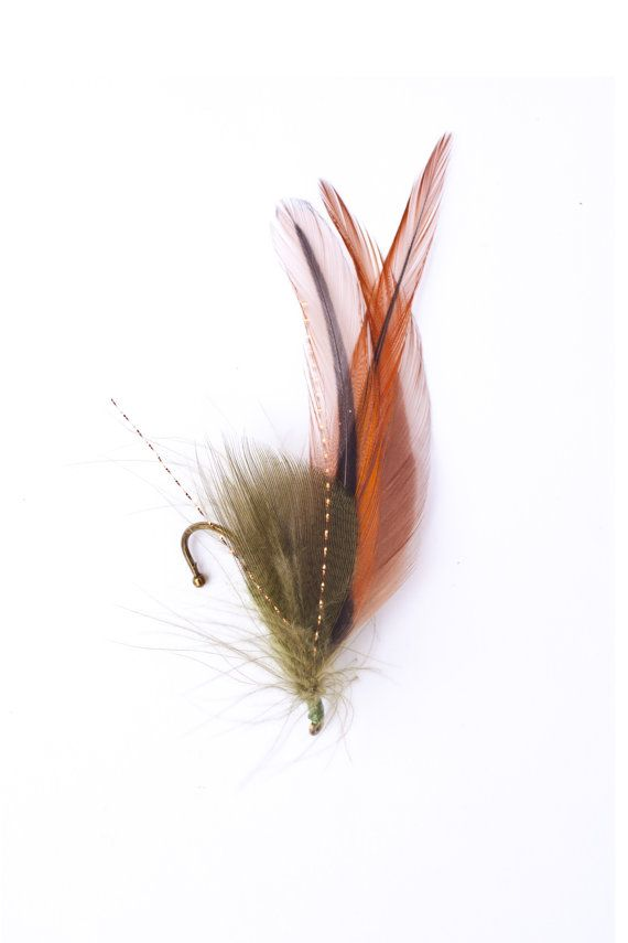 Natural Green and Copper Fly Fishing by TheRuggedWoodsman on Etsy, $20.00