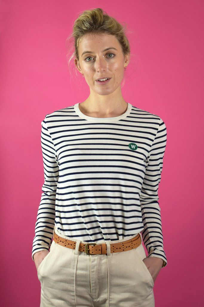066408f9e1a Wood Wood Moa Off White/Navy Stripes Top in 2019 | ECO | Navy ...