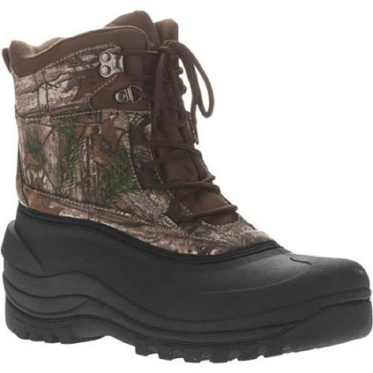 Ozark Trail Men's Winter Boot, Camo, 12