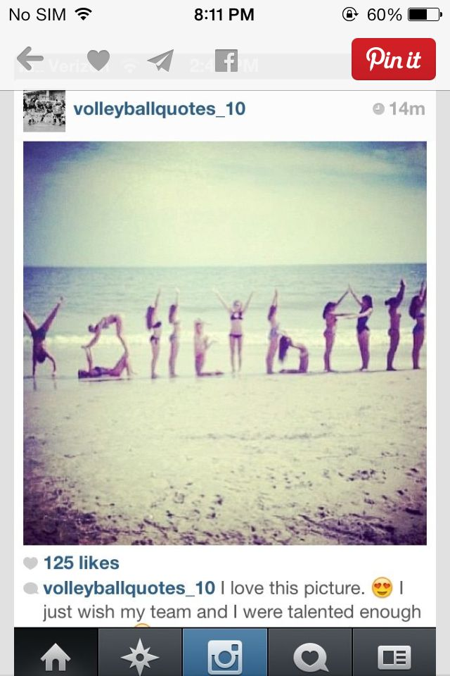 A cool way to spell volleyball!