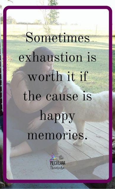 making memories versus getting rest