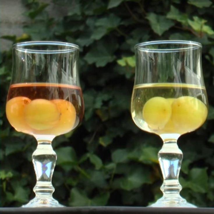 Trauben  Das ist DER beste Trick, wenn dein Weißwein oder dein Rosé nicht kalt genug ist! Anstelle von Eiswürfeln, gib einige gefrorene Trauben hinein, die die gleiche Farbe haben wie dein Wein. Das verleiht deinem Glas einen schicken Anstrich.