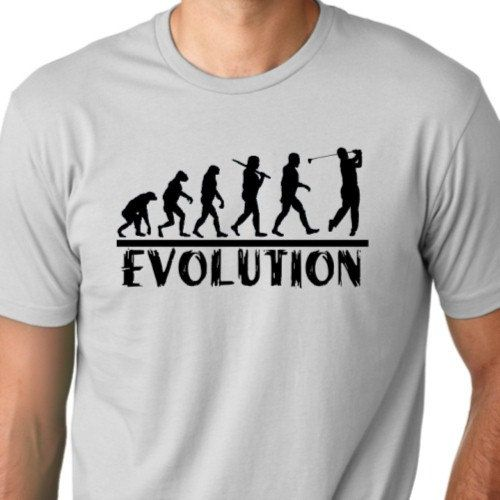 Golf Evolution funny T shirt drinking golfer Humor Tee
