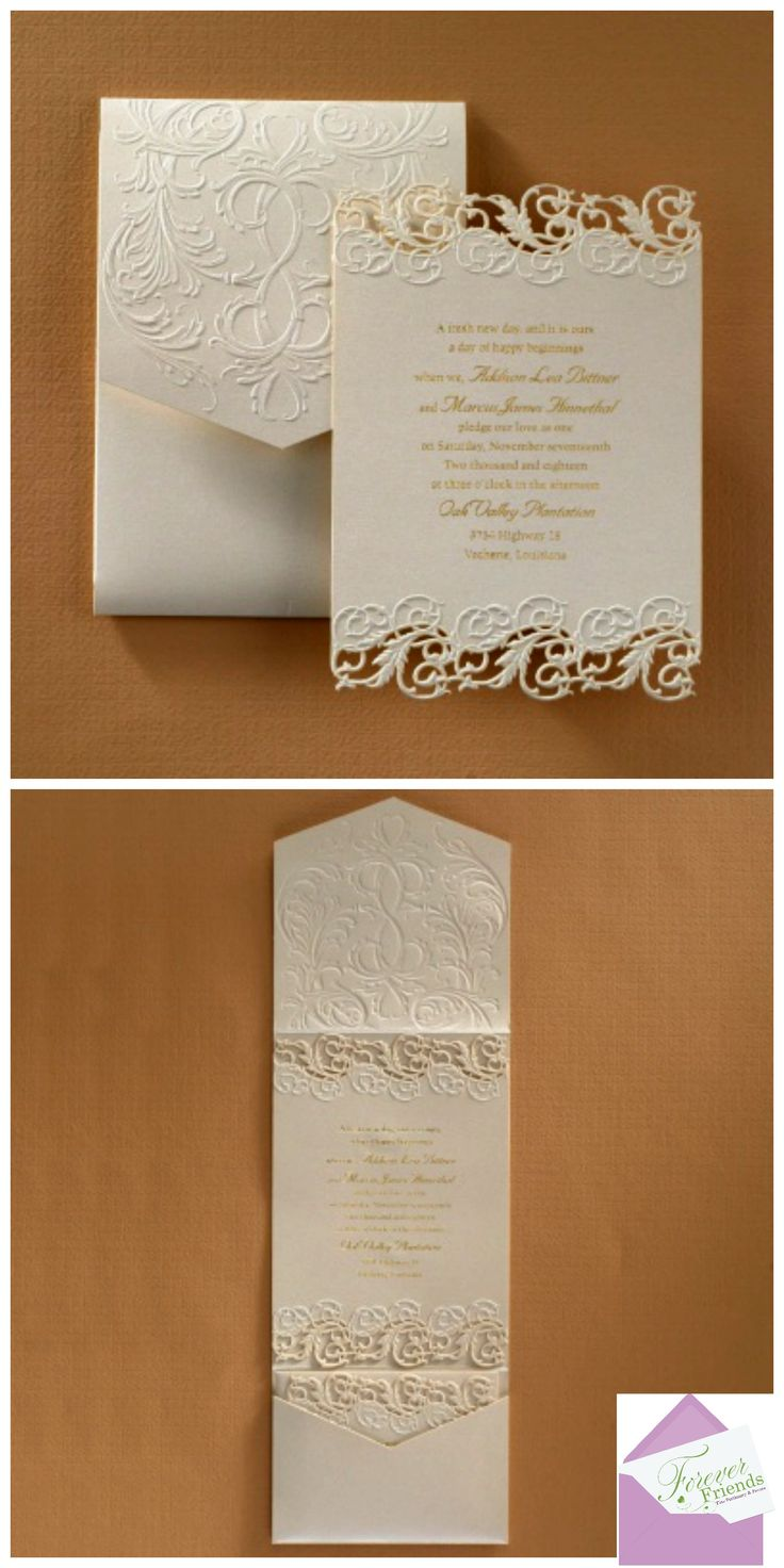 moroccan scroll wedding invitations%0A The beauty of laser cutting is exhibited on this fully assembled   shimmering invitation of elegance