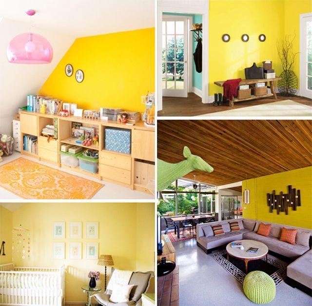 25 beste idee n over gele muren op pinterest gele woonkamers en bruine familiekamers - Kleur van een volwassen kamer ...