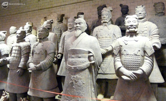 Close-up of a few of the terracotta warriors...