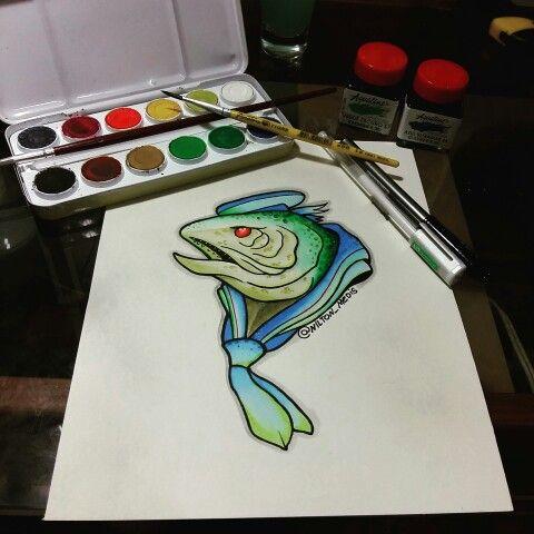 Fish newschool draw @nilton_medis