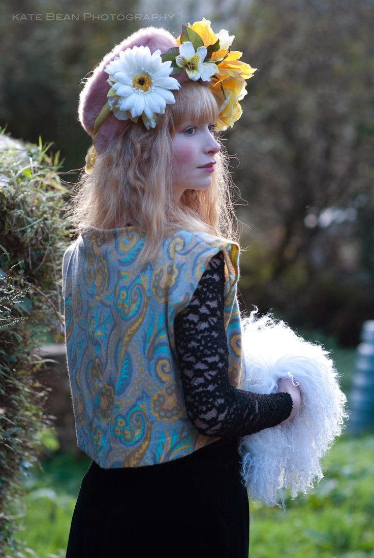 Ethereal Russian doll princess bohemian folk gypsy fairytale  Photography: Kate Bean Photography Design & Styling: Alice Halliday Modelling, Hair & makeup: Alice Halliday Pastel Paisley wool top €95 @ Atelier 27 Flower Crown €55 buy here: https://www.etsy.com/listing/211037141/ethereal-oversized-yellow-rose-and-white?ref=shop_home_active_3