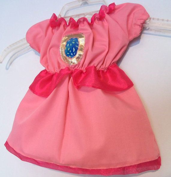 Infant and baby size Princess Peach costume dress by FrogSong