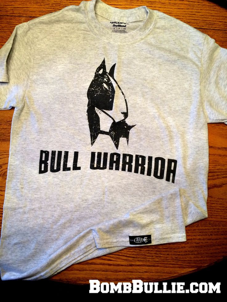 Live it up warrior style in this Hella-comfy Bull Warrior Bull Terrier T-Shirt & personalize with you or your bull terrier's name, initials, nickname, etc. #bullterrier #bullterriershirt #bullieshirt #bullwarrior #englishbullterrier #ebt