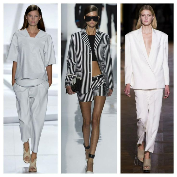 Some black and white runway looks   (*Girl Candy Shop does not accept liability for anyone who leaves the house without a shirt under their blazer)