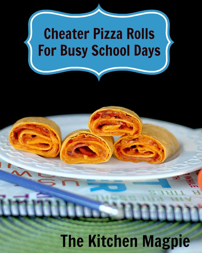 Cheater Pepperoni Pizza Rolls, mere minutes make after school snackage easy as pie! #kids #recipes #School | The Kitchen Magpie