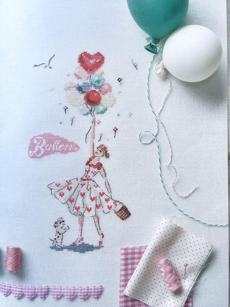 Helene le berre, icones de mode, point de croix, cross stitch