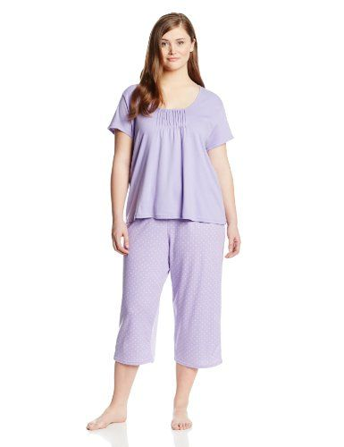 White Orchid Women`s Plus-Size Solid Top with Print Capri Pajama $33.00 (25% OFF)