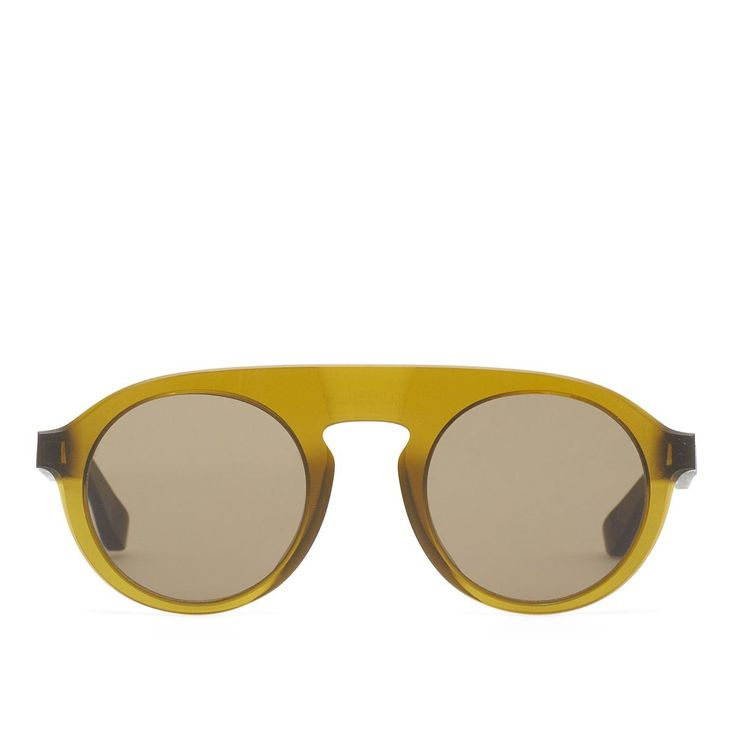 MMRAW003 sunglasses from Mykita collection in collaboration with Maison Margiela in raw peridot