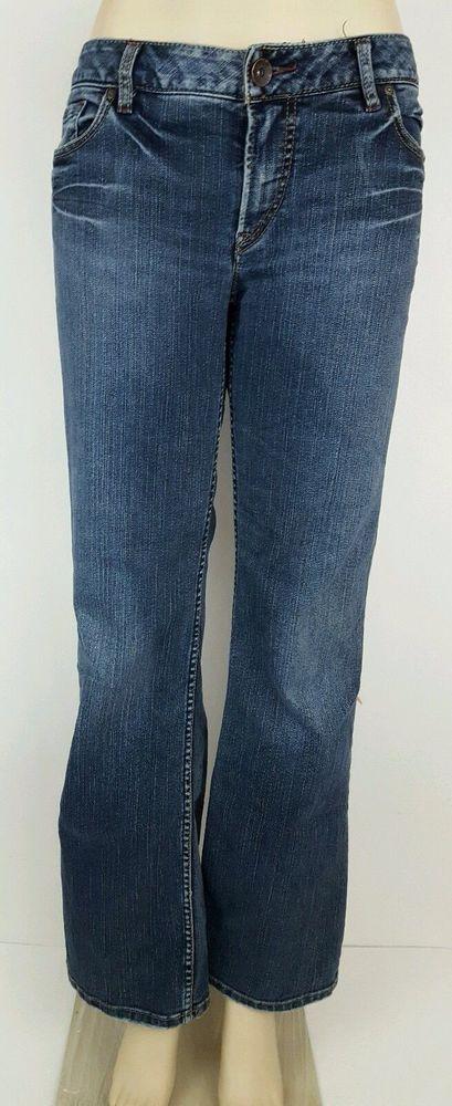 Silver Women's Toni Jeans 34 x 31 #SilverJeans #FlareStraightLeg