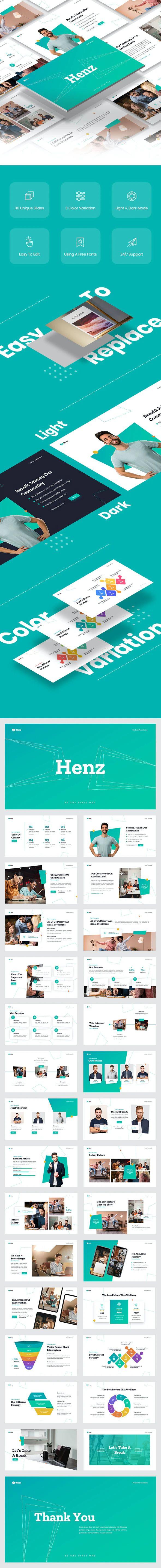 Henz Business Google Slides Template Preview