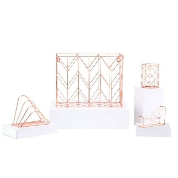 u brands desk organizer set of 4 copper by 60 liked on