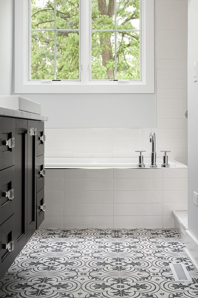 affordable bathroom tile combination ideas the tub is surrounded by rh pinterest com Small Bathroom Designs Small Bathroom Designs