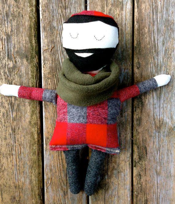 Minne Love Paul Bunyan Doll by mplsmomma on Etsy #etsy #flannel #paulbunyan #doll #lumberjack #kids #doll #toy #minnesota #minneapolis #fall #plaid #handmade