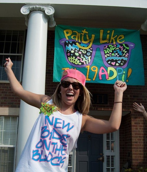 Shout out to all of our ADPIs, what a cute bid day theme! Party like is 19ADPI! We love it!
