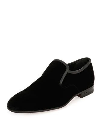 Delroy+Velvet+&+Stingray+Formal+Loafer,+Black+by+Salvatore+Ferragamo+at+Bergdorf+Goodman.