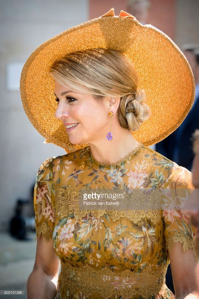 King Willem-Alexander of The Netherlands and Queen Maxima of The Netherlands visit the Design Museum Triennale where the King and the Queen get information about cultural heritage, water and and Fashion during the fourth day of a royal state visit to Italy on June 23, 2017 in Milan, Italy.