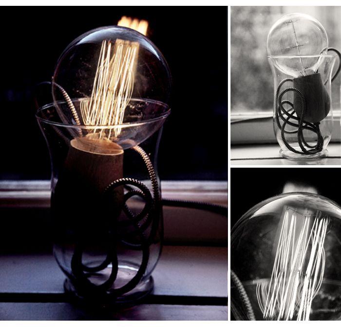 Emma Elwin - light bulb in vase