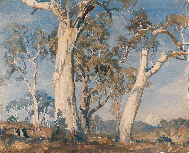 The white gum, (1923) by Hans Heysen :: The Collection :: Art Gallery NSW